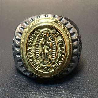 重量感! 聖母マリア モチーフ 316L ステンレスリング(リング(指輪))