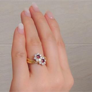 18金製 ルビー&ダイヤのリング   (リング(指輪))