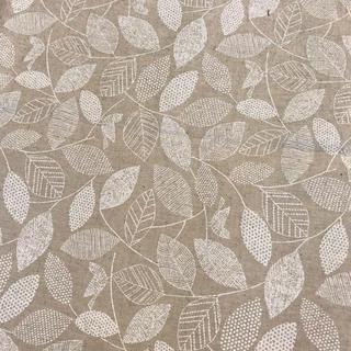 綿麻.木の葉  110×160cm(生地/糸)
