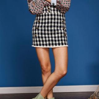ハニーミーハニー(Honey mi Honey)のSister Jane ツイードミニスカート[Black × White](ミニスカート)