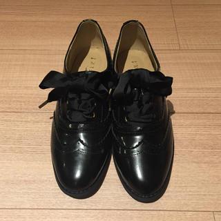 フィント(F i.n.t)のフィントウイングチップシューズ黒(ローファー/革靴)