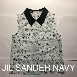 ジルサンダー(Jil Sander)のジルサンダー NAVY ノースリーブ シャツ(シャツ/ブラウス(半袖/袖なし))