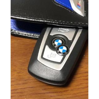 ビーエムダブリュー(BMW)のBMW リモートスマートキー、ラジオボタンにエンブレムステッカー11mm2枚新品(車種別パーツ)