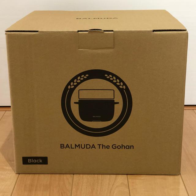 BALMUDA(バルミューダ)の新品  BALMUDA The Gohan   K03-BK スマホ/家電/カメラの調理家電(炊飯器)の商品写真