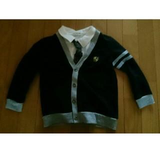 5a4d2adc8908b シマムラ(しまむら)のネクタイ付き 半袖ポロシャツ カーディガン セット 120(ドレス フォーマル
