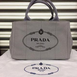 4d217ffe8a5b プラダ(PRADA)のPRADA カナパ グレー 人気のSサイズ ミニ(ショルダーバッグ