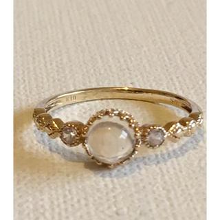 ジュエリーツツミ(JEWELRY TSUTSUMI)のツツミ ムーンストーンリング9号美品(リング(指輪))
