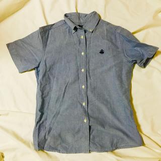ブルックスブラザース(Brooks Brothers)の【着用数回】ブルックスブラザーズ ロゴ付き半袖シャツ(シャツ/ブラウス(半袖/袖なし))