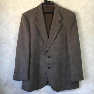 ヴィンテージジャケット メンズ スーツ ブラウン(スーツジャケット)