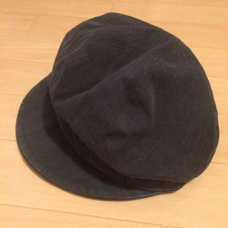 バーバリーブルーレーベル(BURBERRY BLUE LABEL)のブルレ ブラック帽子(キャスケット)