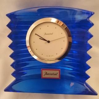 バカラ(Baccarat)のバカラ 置時計 ブルー(置時計)