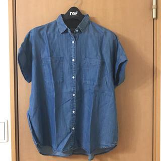 ジーユー(GU)のデニム柄シャツ(シャツ/ブラウス(半袖/袖なし))