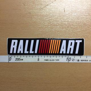 ミツビシ(三菱)のRALLI ART ラリーアート ステッカー 三菱 MITSUBISHII(車外アクセサリ)