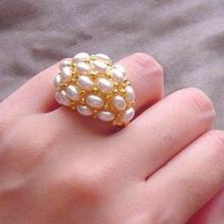 シップス(SHIPS)の美品 ケネスジェイレーン パールリング(リング(指輪))