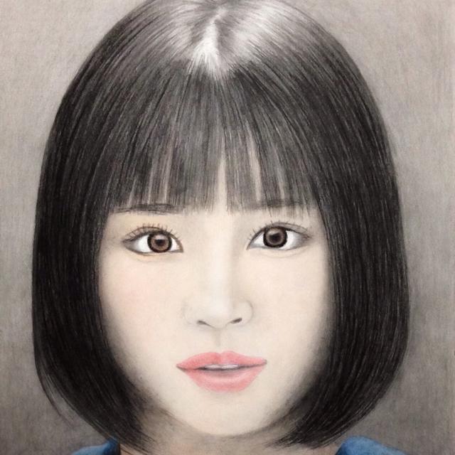 広瀬すず 色鉛筆画 肖像画 似顔絵 イラスト パステル画の通販 By Hiros