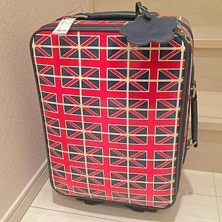 マリークワント(MARY QUANT)のレア❣️タグ付き マリークワントのユニオンジャック柄キャリーケース‼️(スーツケース/キャリーバッグ)