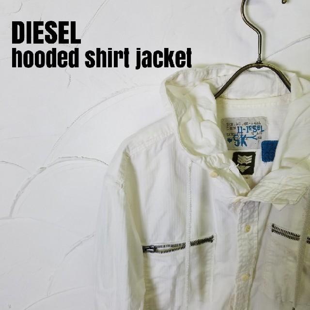 DIESEL(ディーゼル)のDIESEL/ディーゼル フード付き シャツ ジャケット メンズのジャケット/アウター(その他)の商品写真