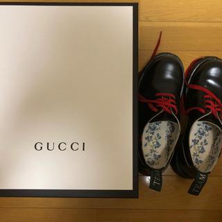 グッチ(Gucci)のGUCCIウェブレザーシューズ(ブーツ)