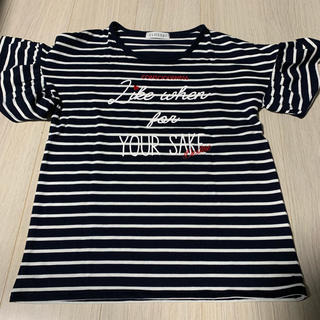 シマムラ(しまむら)の未使用 女の子 フリル ボーダーTシャツ 160(Tシャツ/カットソー)