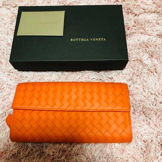 ボッテガヴェネタ(Bottega Veneta)のボッテガヴェネタ 長財布 オレンジ 未使用美品(財布)