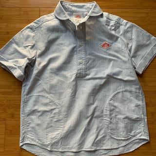 ダントン(DANTON)のダントン DANTON ストライプシャツ 半袖 美品(シャツ/ブラウス(半袖/袖なし))