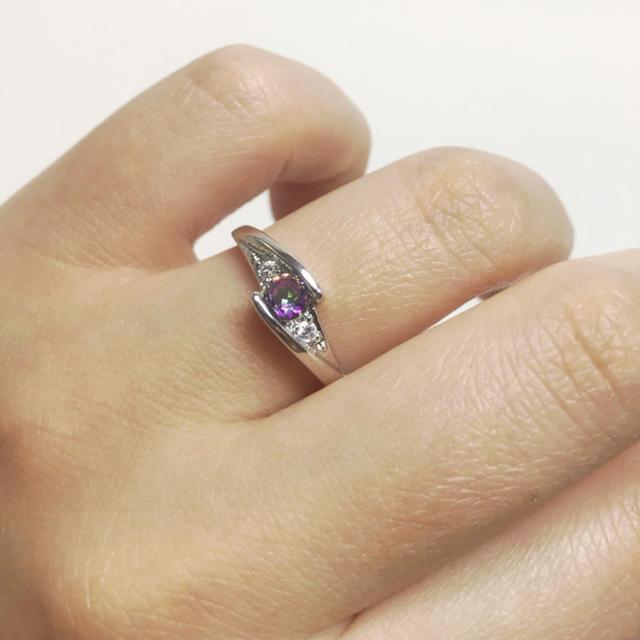 マルチカラー♪キュービックジルコニア♡ジュエリーリング レディースのアクセサリー(リング(指輪))の商品写真