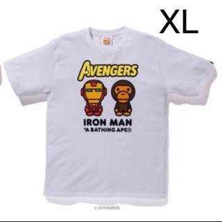 アベイシングエイプ(A BATHING APE)の新品 XL BAPE MARVEL MILO IRON MAN TEE APE(Tシャツ/カットソー(半袖/袖なし))