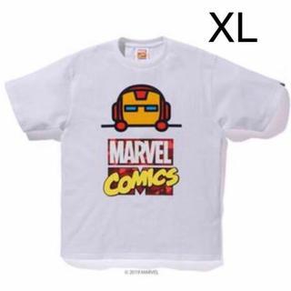アベイシングエイプ(A BATHING APE)の新品 XL BAPE MARVEL COMIC IRON MAN TEE APE(Tシャツ/カットソー(半袖/袖なし))