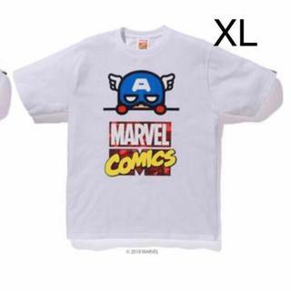 アベイシングエイプ(A BATHING APE)の新品 XL  BAPE MARVEL COMIC CAPTAIN TEE APE(Tシャツ/カットソー(半袖/袖なし))