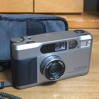 キョウセラ(京セラ)のCONTAX T2  チタンシルバー コンタックス フィルムカメラ (フィルムカメラ)