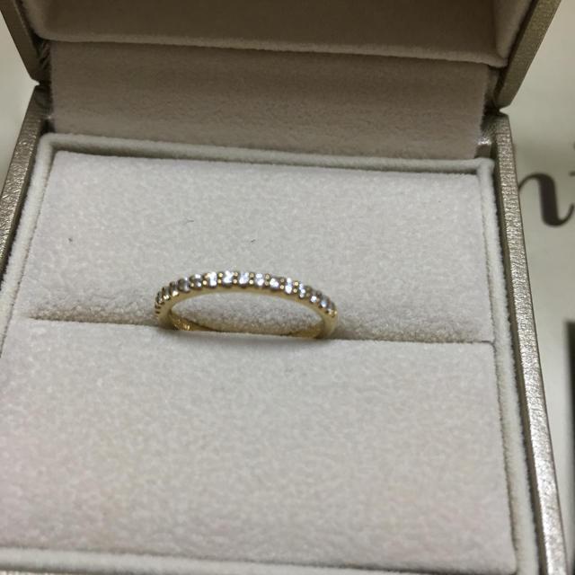 PonteVecchio(ポンテヴェキオ)のポンテヴェキオ K18 ハーフエタニティ ダイヤモンド リング YG 指輪 レディースのアクセサリー(リング(指輪))の商品写真