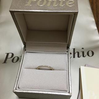 ポンテヴェキオ(PonteVecchio)のポンテヴェキオ K18 ハーフエタニティ ダイヤモンド リング YG 指輪(リング(指輪))