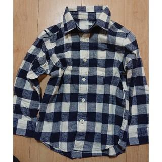 ジーユー(GU)のネルシャツ ジーユー チェックシャツ GU 110 美品(その他)