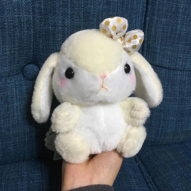 ぽてうさろっぴーモノトーン エンタメ/ホビーのおもちゃ/ぬいぐるみ(キャラクターグッズ)の商品写真