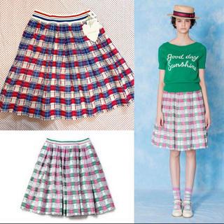 ジェーンマープル(JaneMarple)の新品タグ付き 定価3万円 ジェーンマープル チェックスカート (ひざ丈スカート)