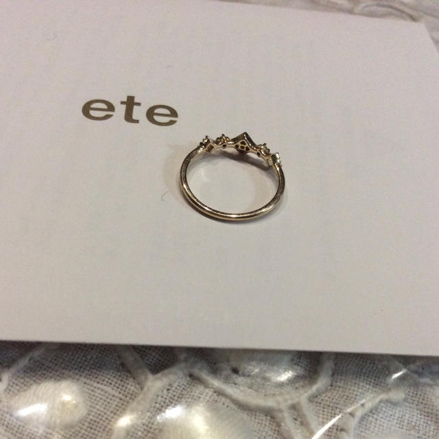 ete(エテ)の☆かおこさま専用 ete ピーチピンキーリング 1号 レディースのアクセサリー(リング(指輪))の商品写真