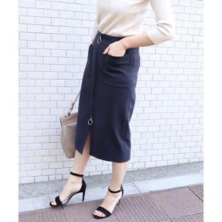 ノーブル(Noble)のNOBLE フープジップタイトスカート36(ひざ丈スカート)
