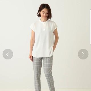 デミルクスビームス(Demi-Luxe BEAMS)のDemi-Luxe BEAMS サテンステッチブラウス(シャツ/ブラウス(半袖/袖なし))