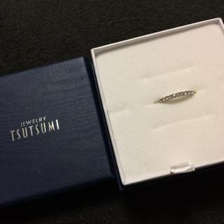 ジュエリーツツミ(JEWELRY TSUTSUMI)の新品 ジュエリーツツミ ダイヤモンドリング K10WG ホワイトゴールド(リング(指輪))