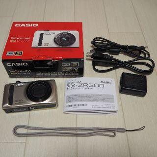 カシオ(CASIO)のHIGH SPEED EXILIM EX-ZR300GD [ゴールド]casio(コンパクトデジタルカメラ)