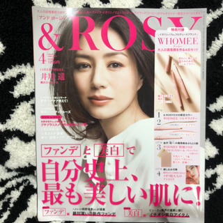 シセイドウ(SHISEIDO (資生堂))の&ROSY アンドロージー 2019年4月号 本誌のみ。井川遥 宝島社(ファッション)