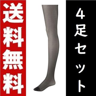 GU - タイツ(シアーラメ) 20デニール シアータイツ 黒ストッキング 黒スト