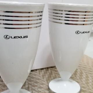 トヨタ(トヨタ)のレクサス  ペアカップ ノベルティ 【新品】 LEXUS TOYOTA(グラス/カップ)