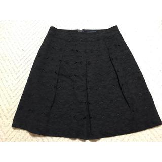 バーバリー(BURBERRY)のBurberry バーバリー スカート  レース 黒 チャック 大きいサイズ(ひざ丈スカート)