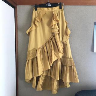 フレイアイディー(FRAY I.D)のFRAY ID フリルプリーツスカート(ロングスカート)