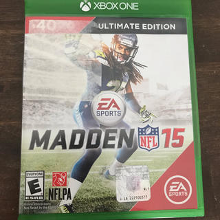 エックスボックス(Xbox)の送料無料  XBOX ONE ゲームソフト MADDEN15(家庭用ゲームソフト)