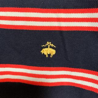 ブルックスブラザース(Brooks Brothers)のBrooks Brothersブルックスブラザーズ ポロシャツボーダー サイズL(ポロシャツ)