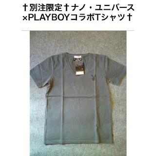 プレイボーイ(PLAYBOY)のプレイボーイ×ナノユニバース☆コラボVネックTシャツ(^-^)v(Tシャツ/カットソー(半袖/袖なし))