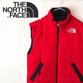 ザノースフェイス(THE NORTH FACE)の人気カラー! ノースフェイス ダウンベスト レッド 90s(ダウンベスト)