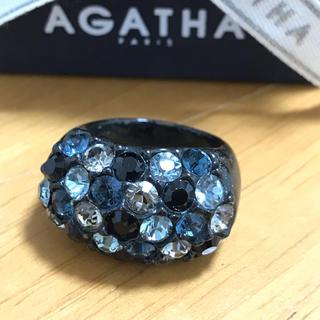 アガタ(AGATHA)のアガタ  黒×青系リング  (リング(指輪))